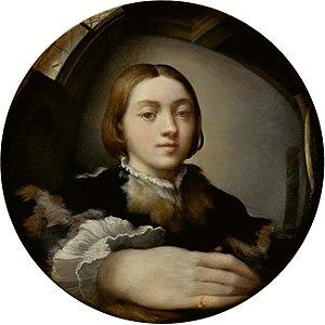 Self-portrait in a convex mirror, Parmigianino