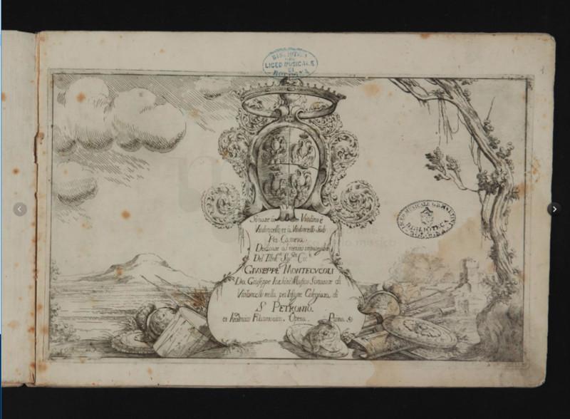 Sonate à Violino e Violoncello, op. 1, Giuseppe Jacchini