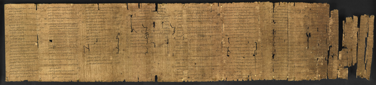 Manuscript of the Constitution of the Athenians by Aristotle