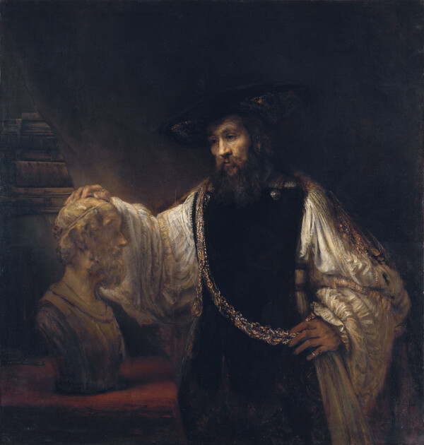 Aristotle with a Bust of Homer - Rembrandt