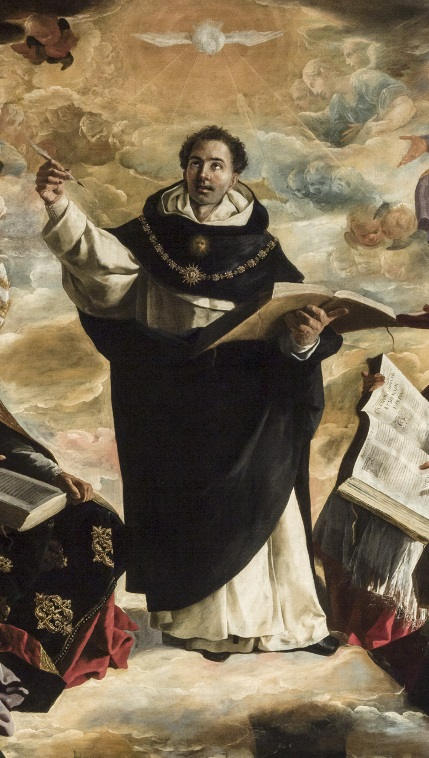 Detail of The Apotheosis of Saint Thomas Aquinas - Francisco de Zurbarán