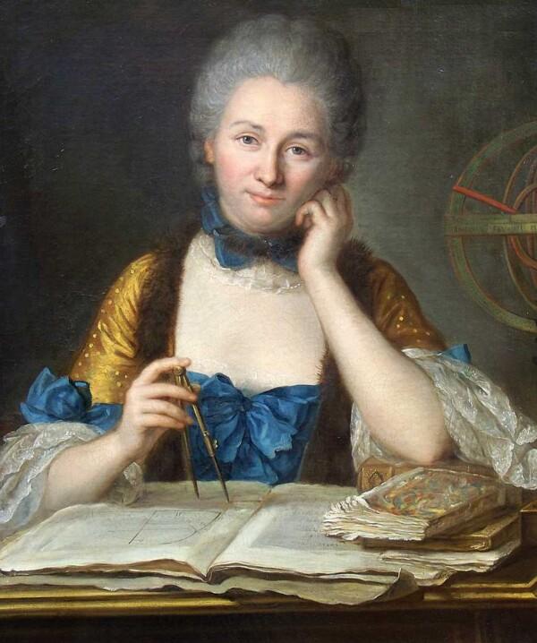 Emilie du Chatelet - Maurice Quentin de La Tour