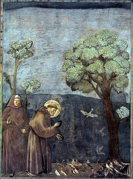 Giotto - Legend of St Francis - Sermon to the Birds