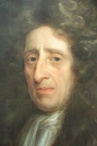 John Locke's Kit-cat portrait by Godfrey Kneller