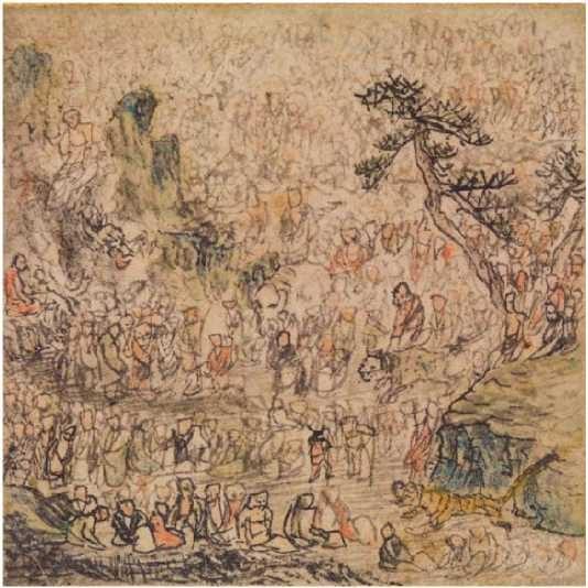 Five Hundred Arhats - Rosetsu