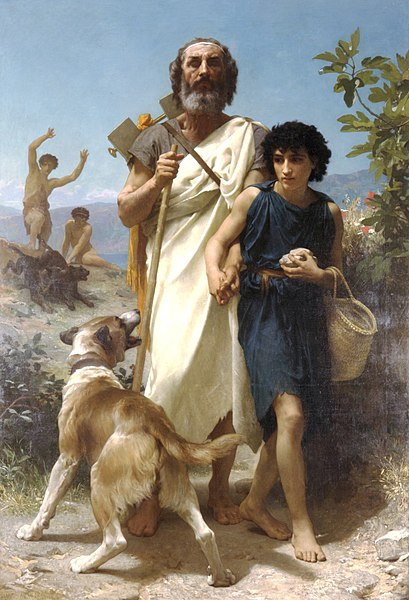 Homer and his guide - William-Adolphe Bouguereau
