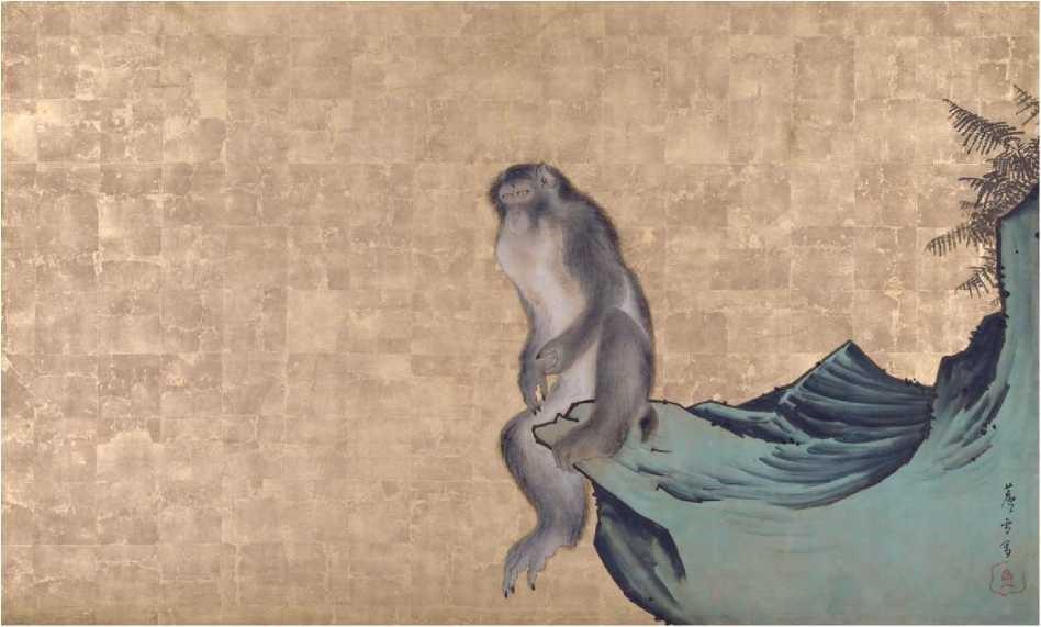 Monkey on a Rock - Rosetsu