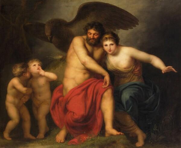 Zeus and Hera on Mount Ida - Andries Cornelis Lens