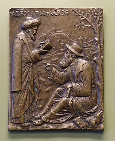 Aristóteles y Alejandro de Afrodisias - Andrea Briosco