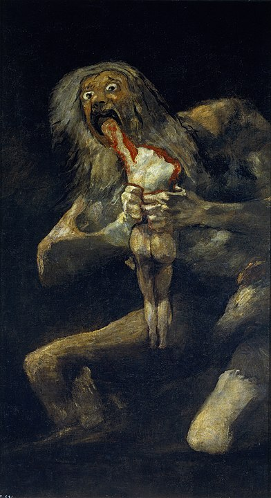 Saturn devouring his son - Francisco de Goya