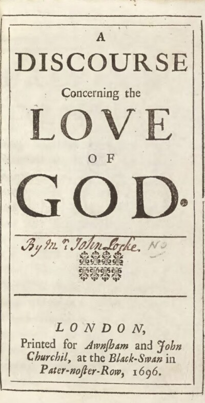 A Discourse Concerning the Love of God - Damaris Masham