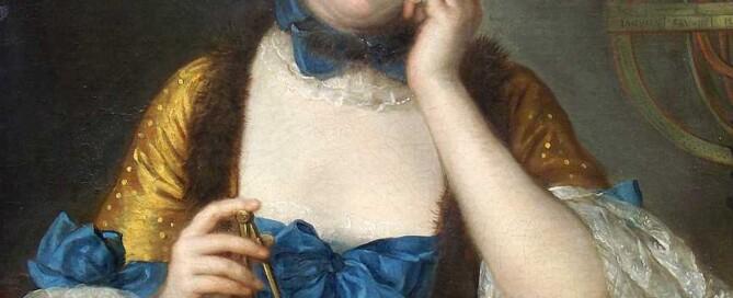 Emilie Chatelet, portrait by Latour