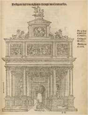 Arco triunfal de la nación genovesa - Pieter Coecke van Aelst