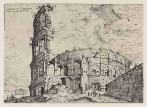 Vista del Coliseo - Hieronymus Cock